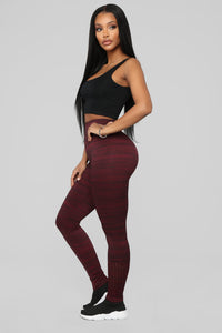 The Impossible Seamless Leggings - Plum