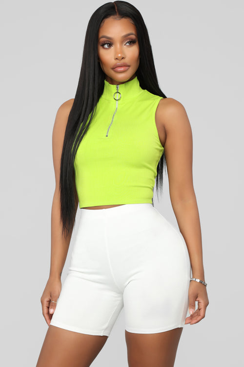 Keeping It Fun Top - Neon Green