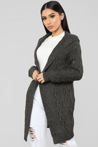 Winter Vacation Cardigan - Charcoal