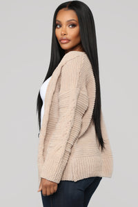 Better In Your Arms Cardigan - Taupe