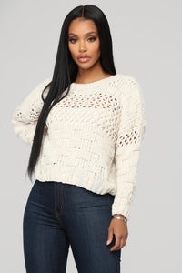 Henley Sweater - Beige Angle 1
