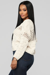 Henley Sweater - Beige Angle 3
