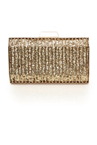 Life Can Be Hard Case Clutch - Gold