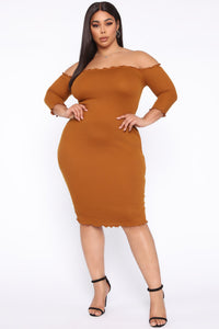Jacky's Love Dress - Rust