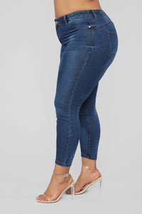 Rise Up Butt Lifter Jeans - Dark Wash