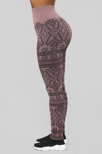 Already Printed Leggings - Pink