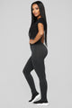 So Into You Seamless Leggings - Charcoal