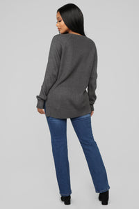Next Time Sweater - Charcoal