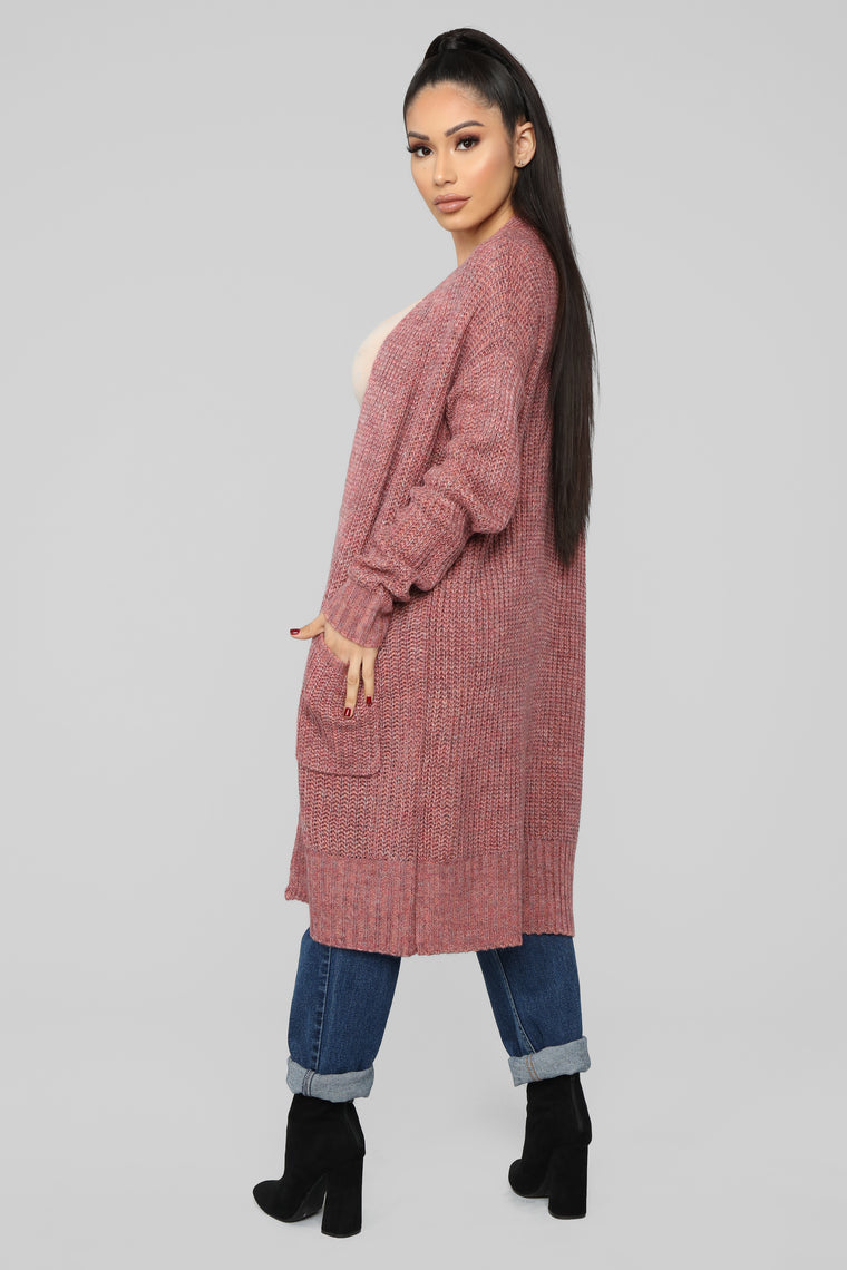 Better To Lie Cardigan - Pink