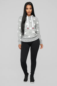 She's A Star Hoodie - Grey/White