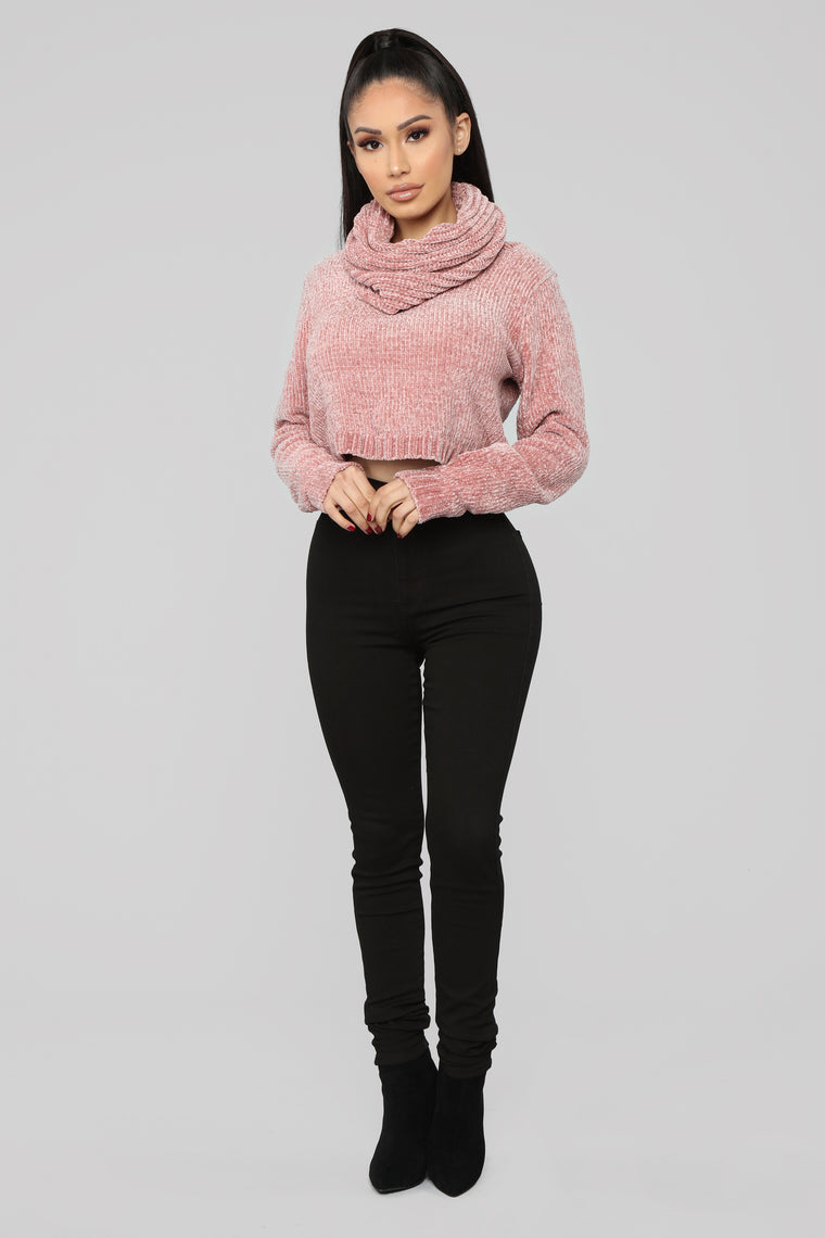 In The Neck Of Time Sweater - Mauve