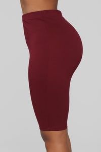 Leyla Long Sleeve Lounge Set - Burgundy Angle 8