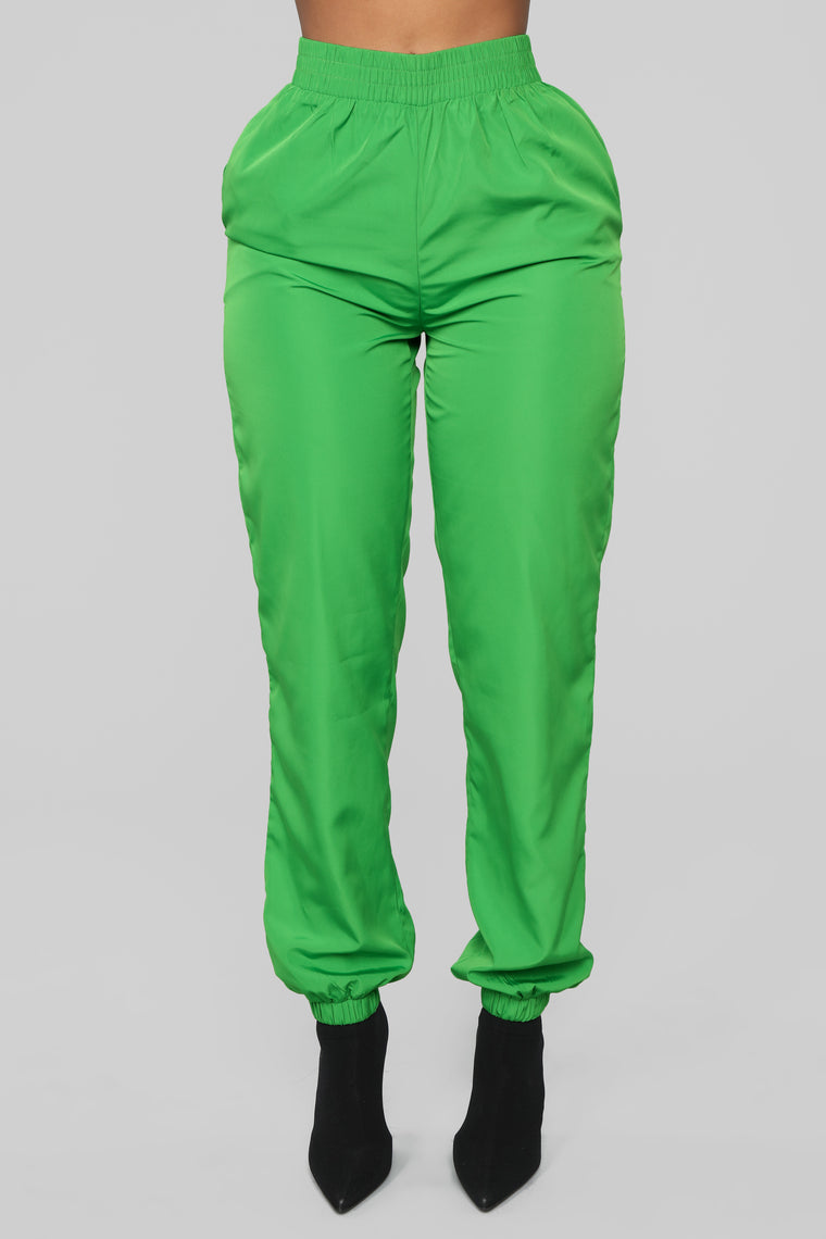 Lianna Lounge Windbreaker Jogger - Green