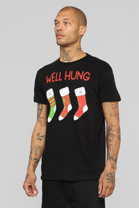 Well Hung Short Sleeve Tee - Black