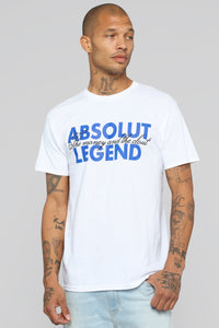 Absolut Legend Short Sleeve Tee - White/Blue Angle 1
