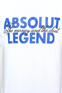Absolut Legend Short Sleeve Tee - White/Blue Angle 6