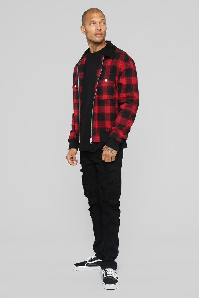James Casual Jacket - Red/Combo