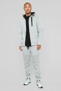 Out Done Zip Hp Hoodie - Heather/Grey Angle 2