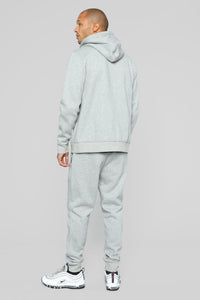 Out Done Zip Hp Hoodie - Heather/Grey Angle 6