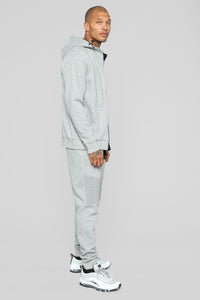 Out Done Zip Hp Hoodie - Heather/Grey Angle 4