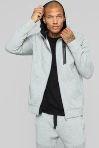 Out Done Zip Hp Hoodie - Heather/Grey Angle 1
