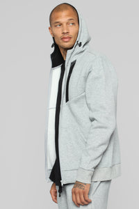 Out Done Zip Hp Hoodie - Heather/Grey Angle 5