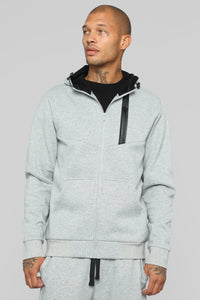 Out Done Zip Hp Hoodie - Heather/Grey Angle 3