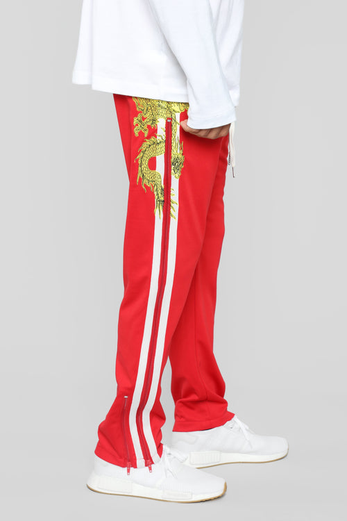 Eye Of The Dragon Track Pants - Red