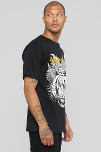 Wild Soul Short Sleeve Tee - Black/Orange