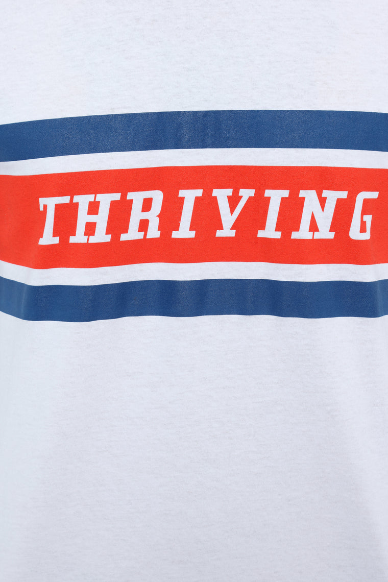 Thriving Long Sleeve Tee - White/Combo