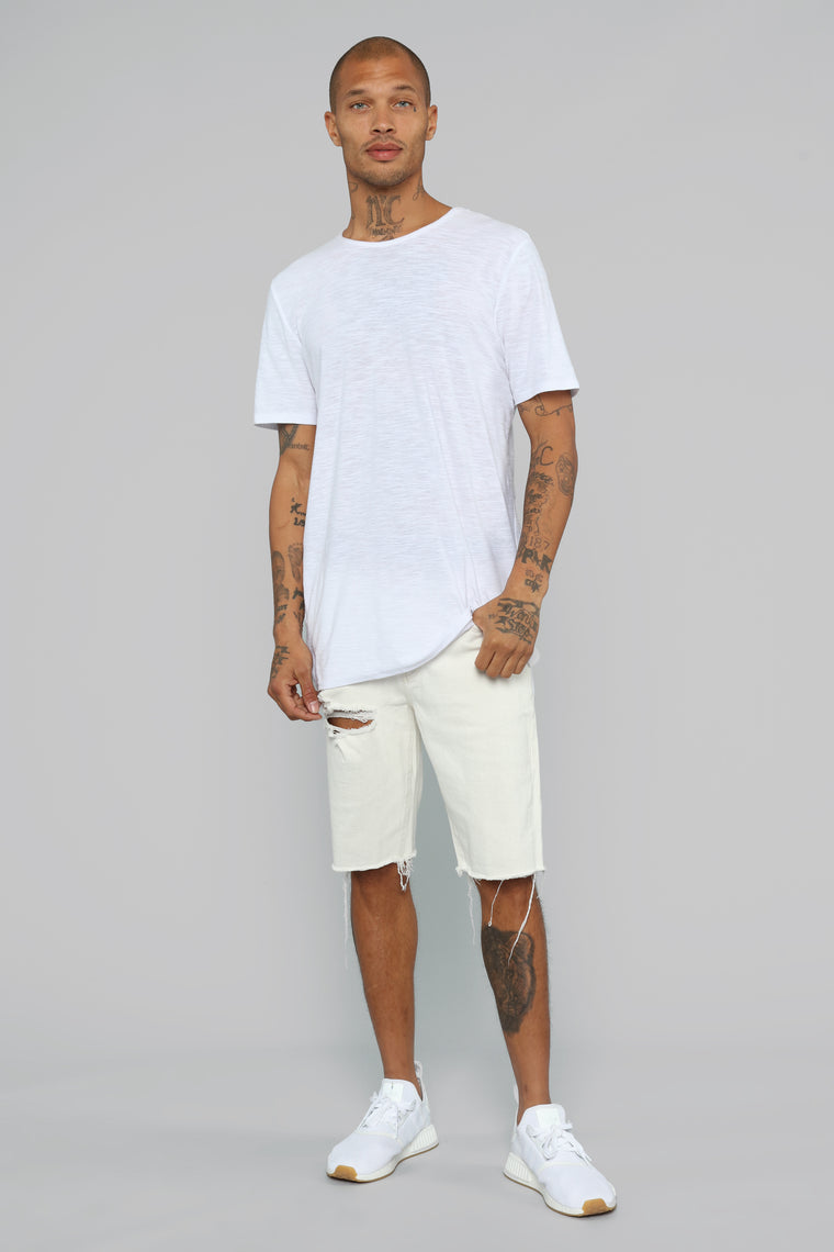 Earl Denim Shorts - Off White