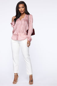 All The Pretty Faces Button Down Shirt - Pink