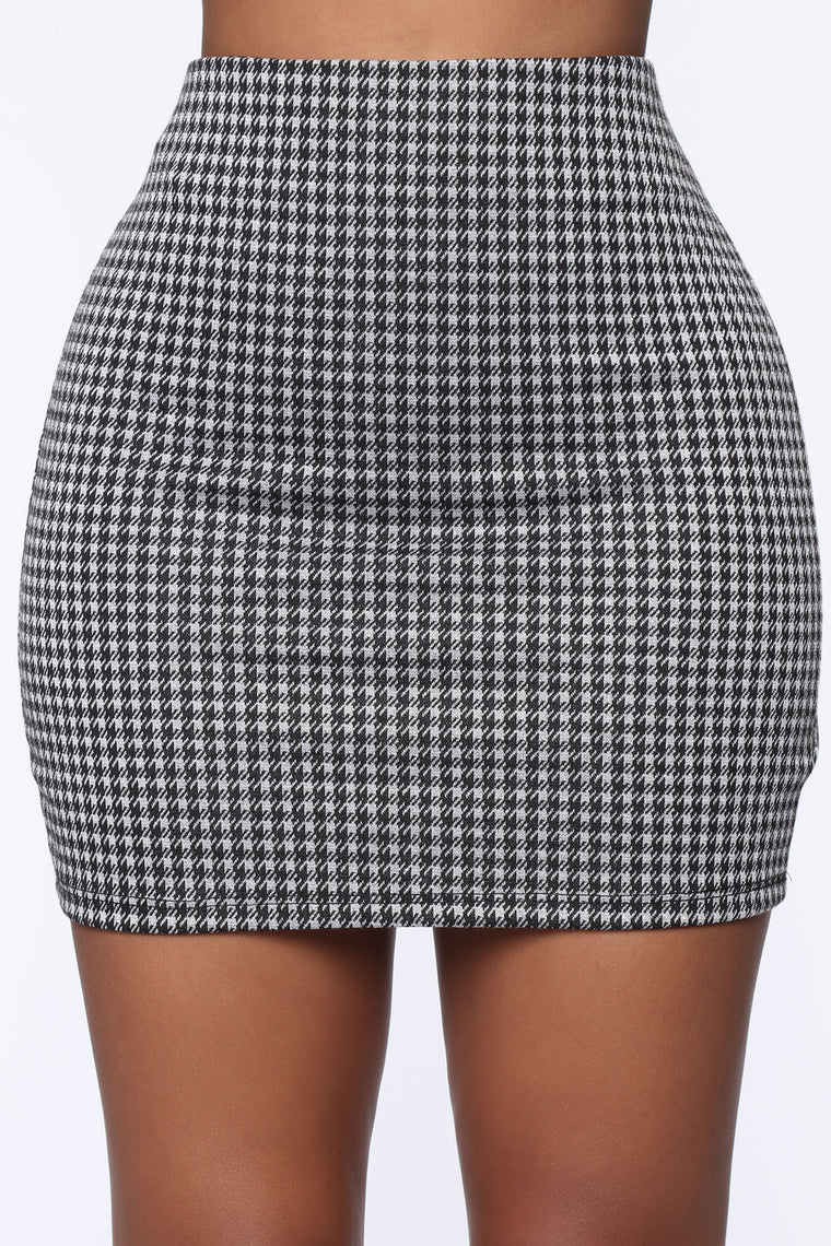 Call Me The Best Plaid Skirt Set - Grey/combo