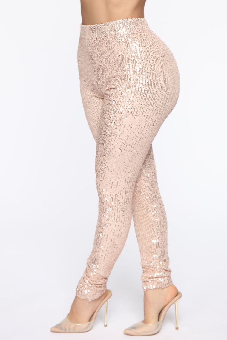 Sequins To Everything Pant Set - Gold