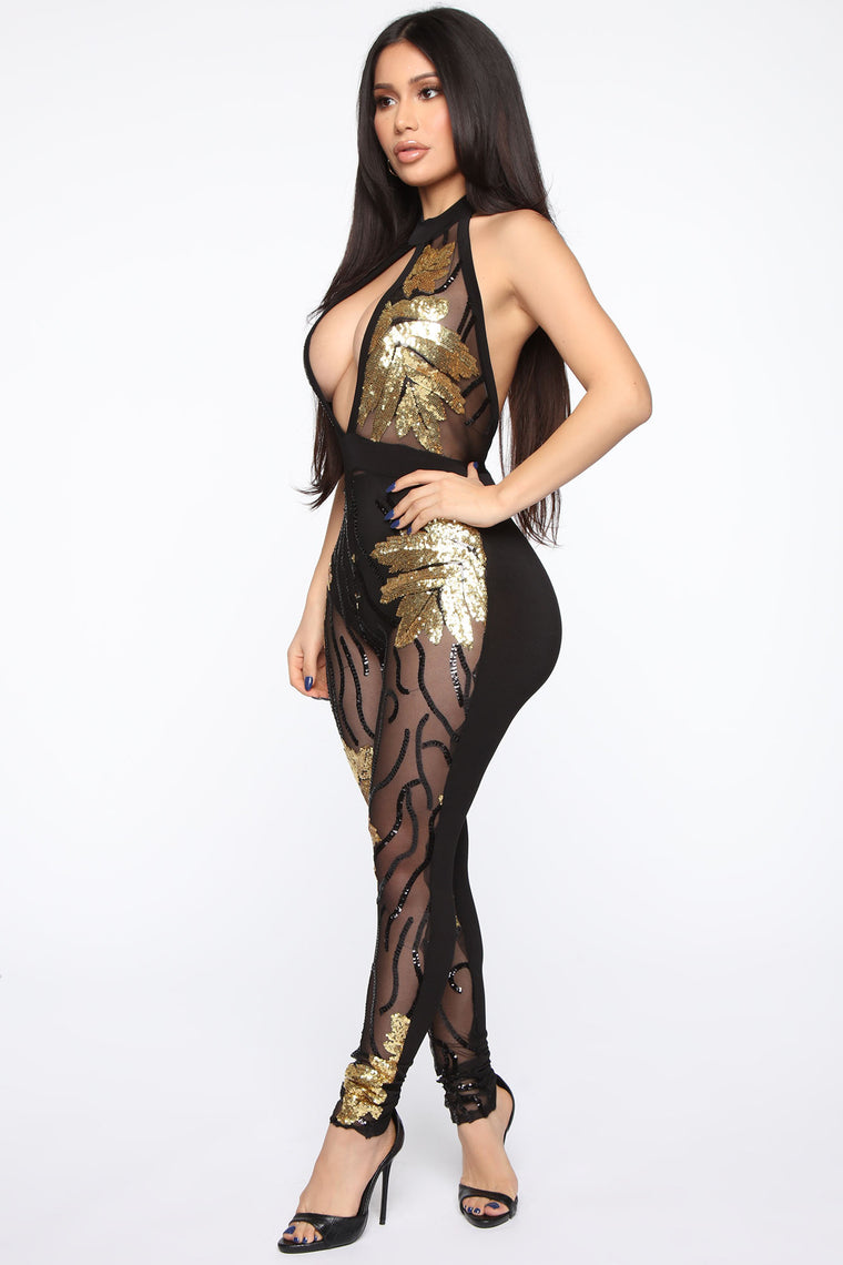 My Mom Mami Jumpsuit - Black/Gold