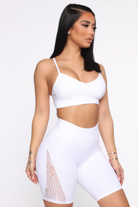 Butterfly Effect Active Sports Bra - White Angle 3