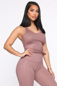 Jump To It Active Muscle Tank - Mauve