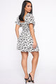 The Art Of Procrastination Floral Dress - White/Black