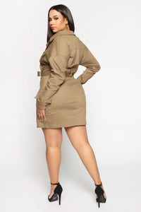 Carry Cargo Mini Dress - Brown