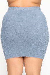 Miss Info Skirt Set - Periwinkle