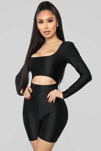 Get To The Point Romper - Black