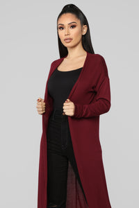 Forever Friends Duster - Wine