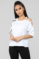 It's A Woman's World Tunic Top - White