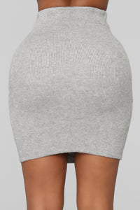 Cuddle Me Now Skirt Set - Heather Grey