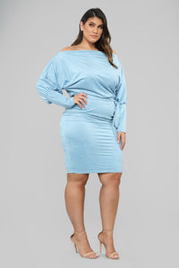 Our First Date Midi Dress - Blue Angle 7