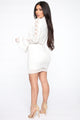 Never Complaining Mini Dress - Off White