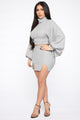 Monica Mini Skirt Set - Grey