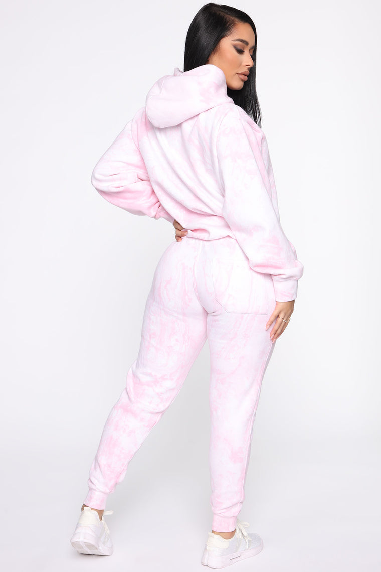 Stole Your Boyfriend's Marble Oversized Jogger - Pink Marble