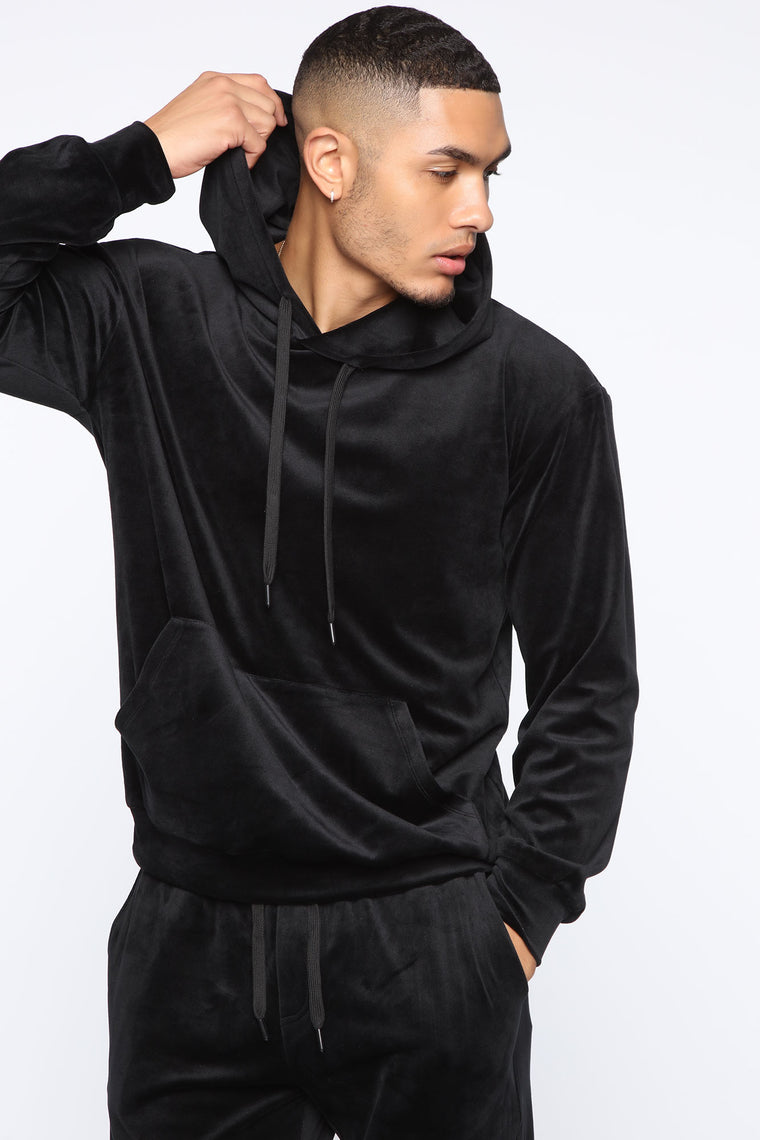 Mason Velour Hoodie   Black by Fashion Nova