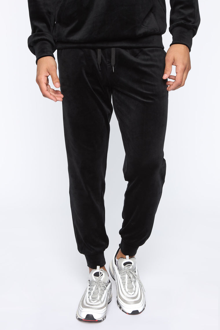 Mason Velour Jogger   Black by Fashion Nova